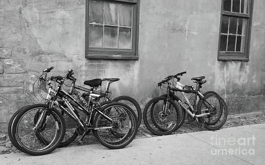 Bicycle Parking BW by D Hackett