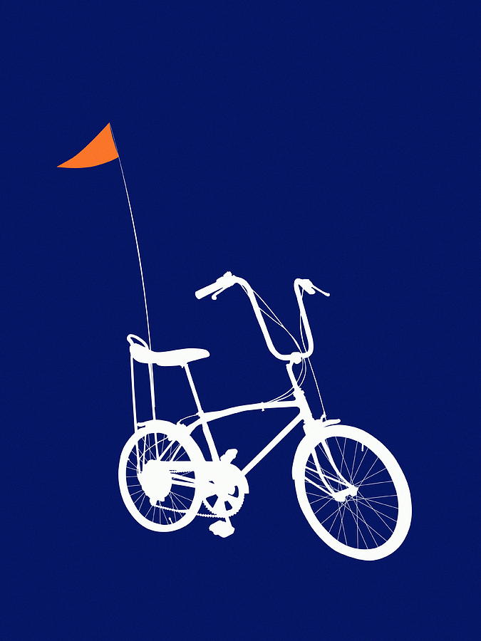 Bicycle With Banana Seat And Flag Digital Art by Chad Baker