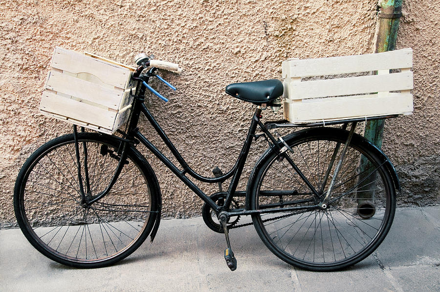 Bicycle With Empty Wooden Boxes, Front Photograph by Paolo Negri