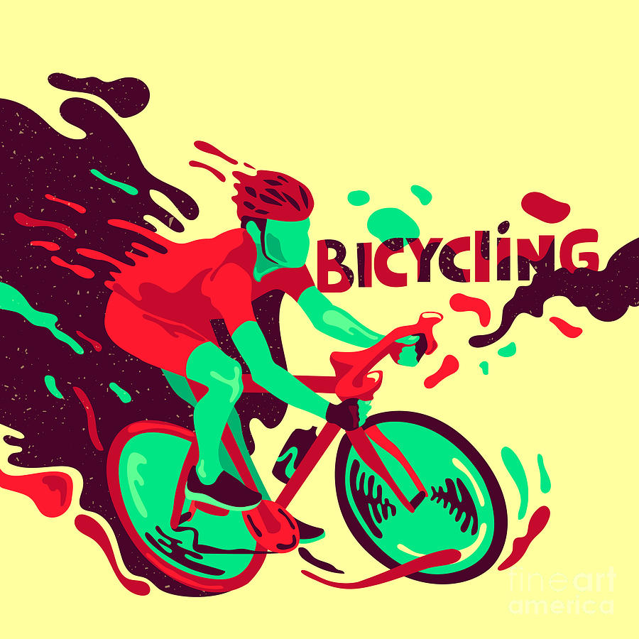 Competition Digital Art - Bicycling Healthy Lifestyle Sports by Daria i
