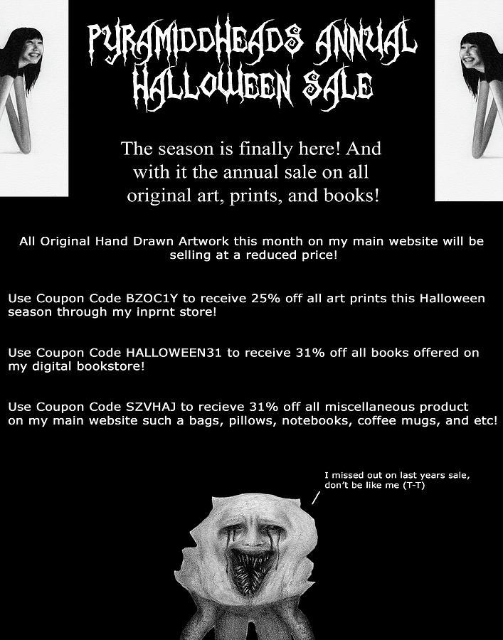 Big Annual Halloween Art Sale by Ryan Nieves