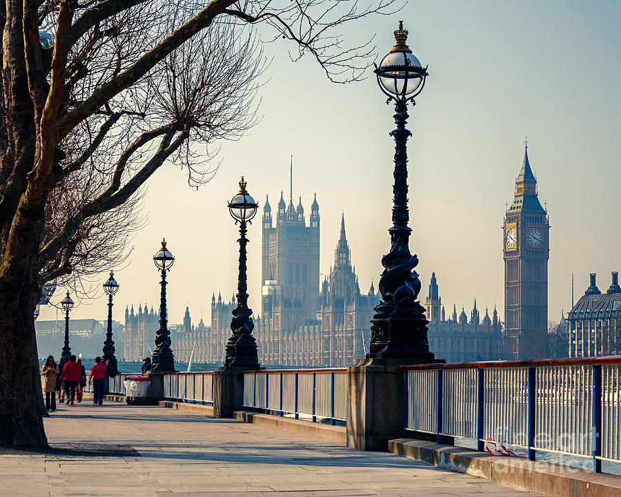 Big Photograph - Big Ben And Houses Of Parliament In by S.borisov