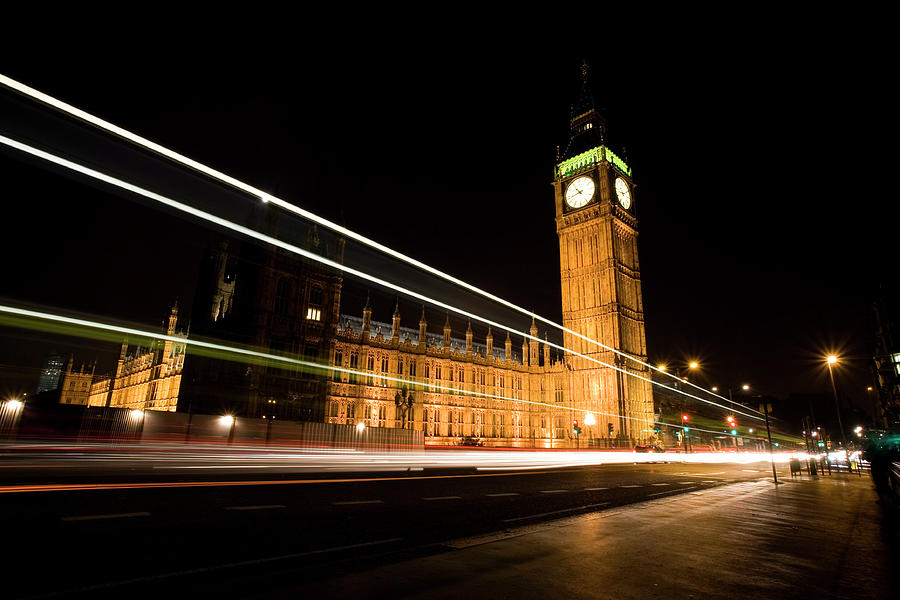 Big Ben At Night Photograph by Track5