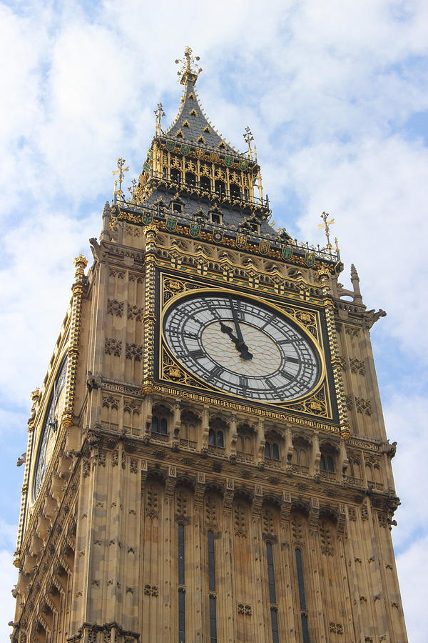 Big Ben Photograph - Big Ben Clock Tower by Laura Smith