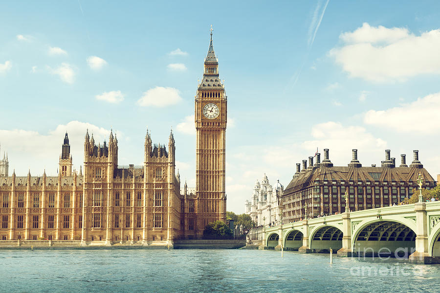 Big Photograph - Big Ben In Sunny Day, London by Esb Professional