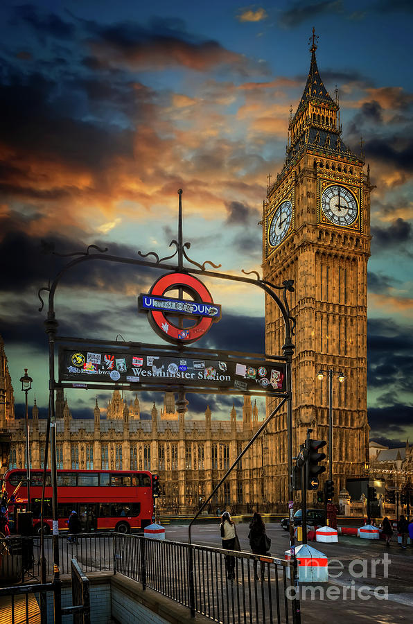Big Ben Photograph - Big Ben London City by Adrian Evans