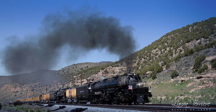 Train Photograph - Big Boy at Echo Canyon by Laura Terriere