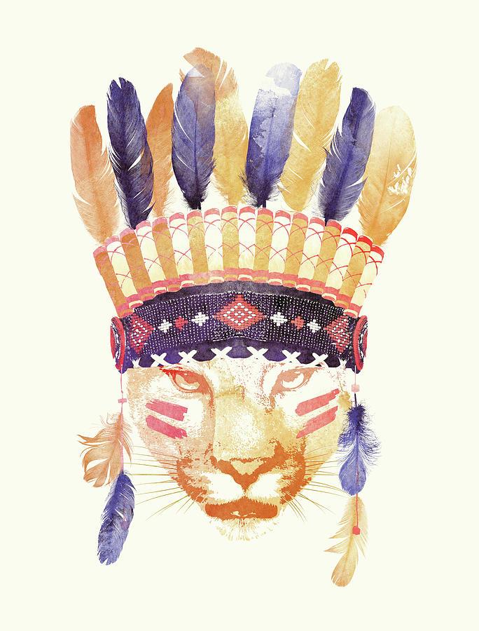 Big Chief Painting - Big Chief by Robert Farkas