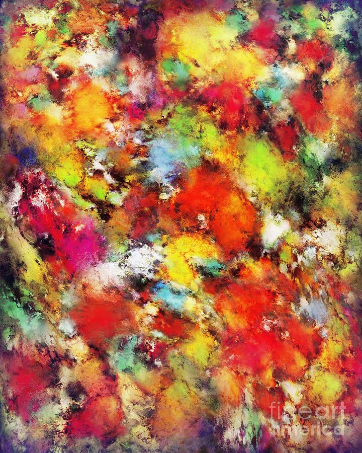 Brightly Coloured Digital Art - Big Colour Storm by Keith Mills