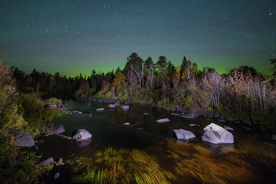 Big Dipper and Aurora Above Stony River by Adam Pender