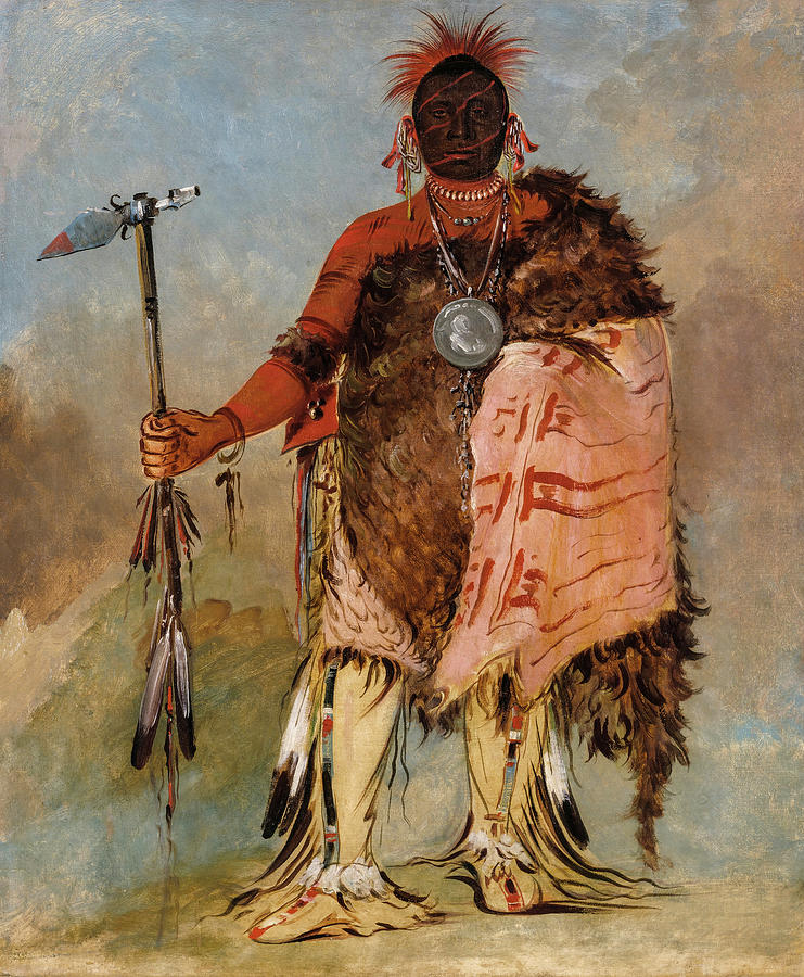 Big Elk, A Famous Warrior Painting by Charles Bird King
