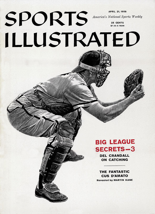 Big League Secrets - Catching Sports Illustrated Cover Photograph by Sports Illustrated