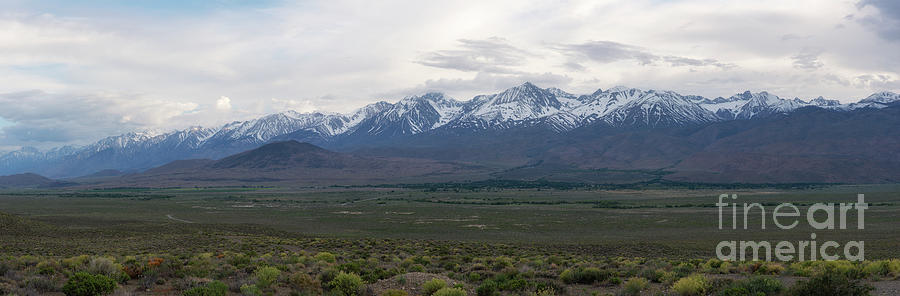Owens Valley Photograph - Big Pine California Overlook  by Michael Ver Sprill