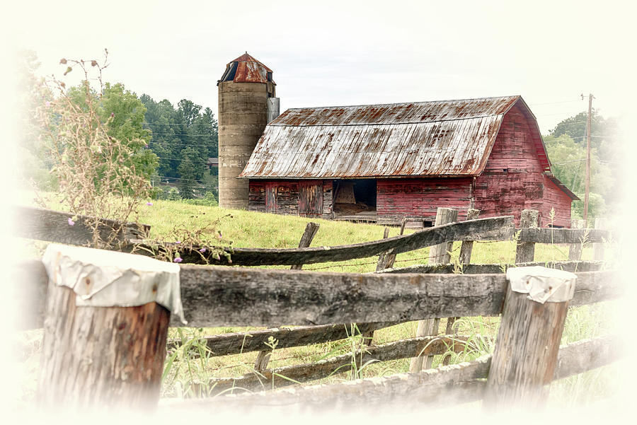 Big Red Barn and Silo #1102 by Susan Yerry