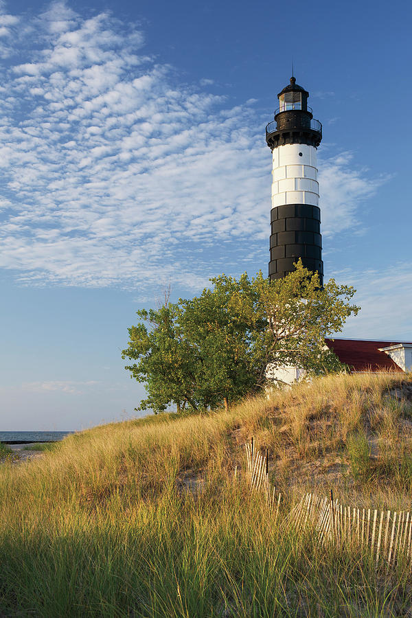 Big Sable Point Lighthouse Photograph - Big Sable Point Lighthouse II by Alan Majchrowicz
