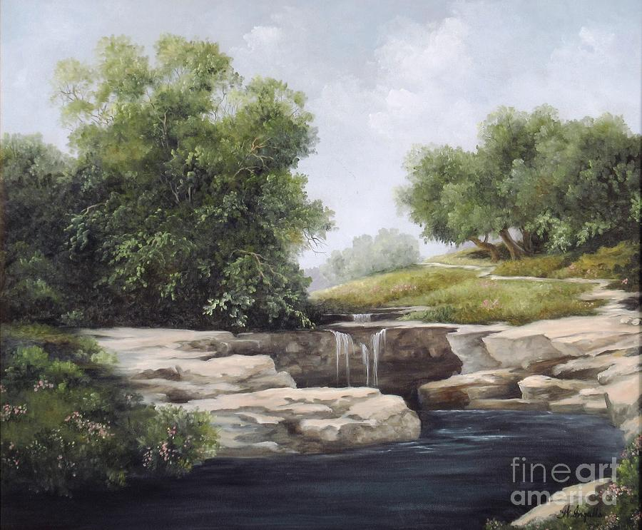 Landscape Painting - Big Sandy Texas by Wilma Ingalls