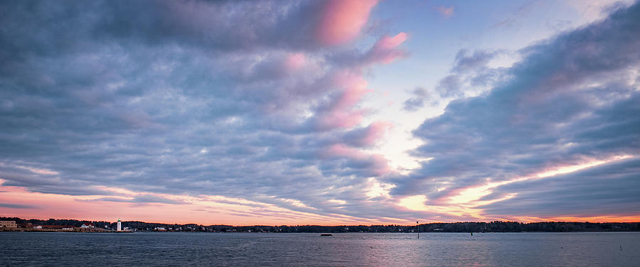 Big Sky Over Portsmouth Light. by Jeff Sinon