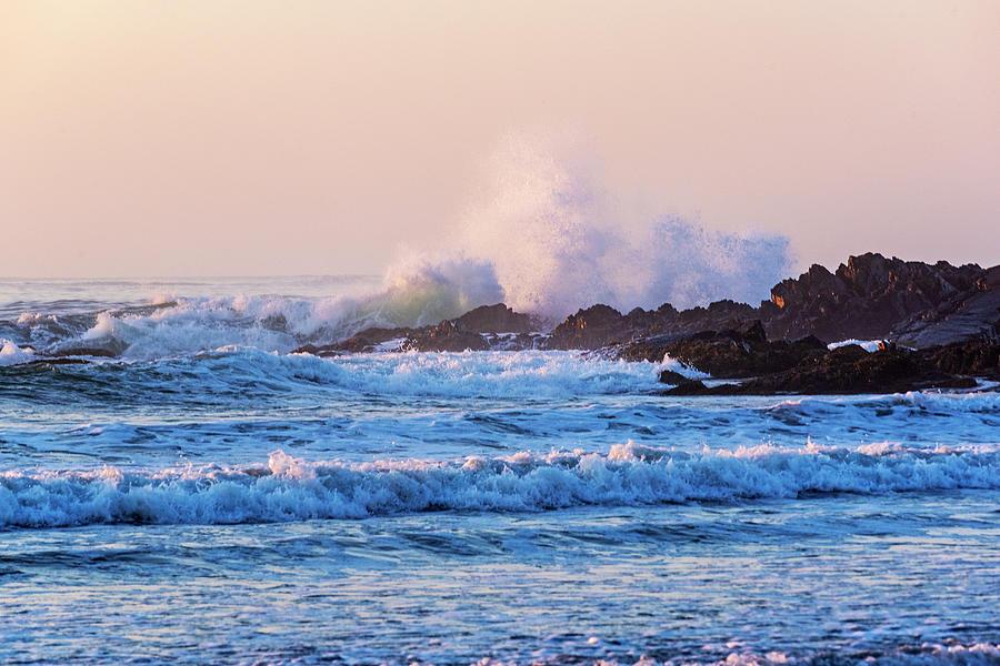 Big Splash on Gooch's Beach Kennebunk Maine Sunrise by Toby McGuire