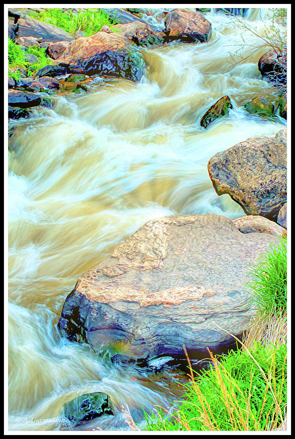 Big Thompson River, Boulders by A Gurmankin