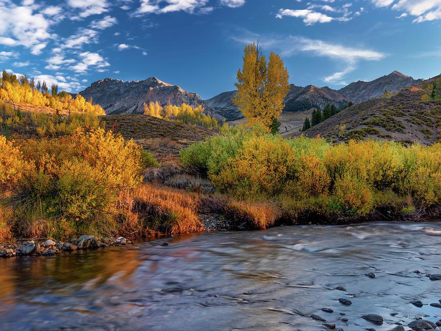 Altitude Photograph - Big Wood River Color by Leland D Howard
