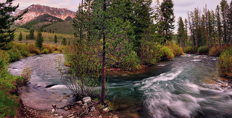 Altitude Photograph - Big Wood River Curve 2 by Leland D Howard