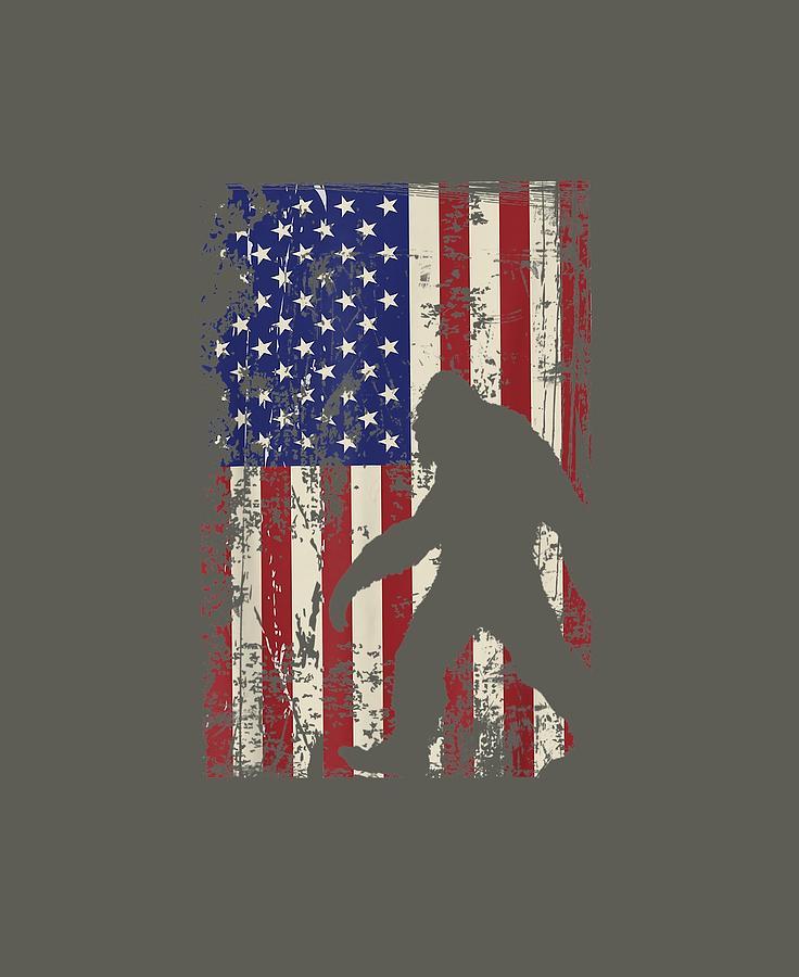 Bigfoot American Flag Shirt I 4th Of July Patriotic T Shirt