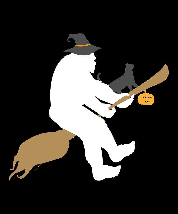 Bigfoot Halloween Witch Pun Sasquatch Apparel Funny Gift