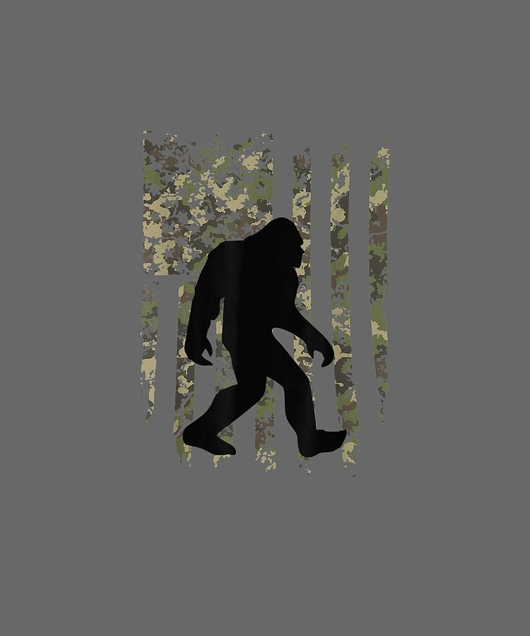 Bigfoot I Believe Sasquatch Patriot T Shirt American Flag