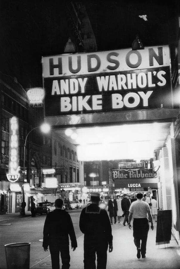 Bike Boy At The Hudson Theatre Photograph by Fred W. McDarrah