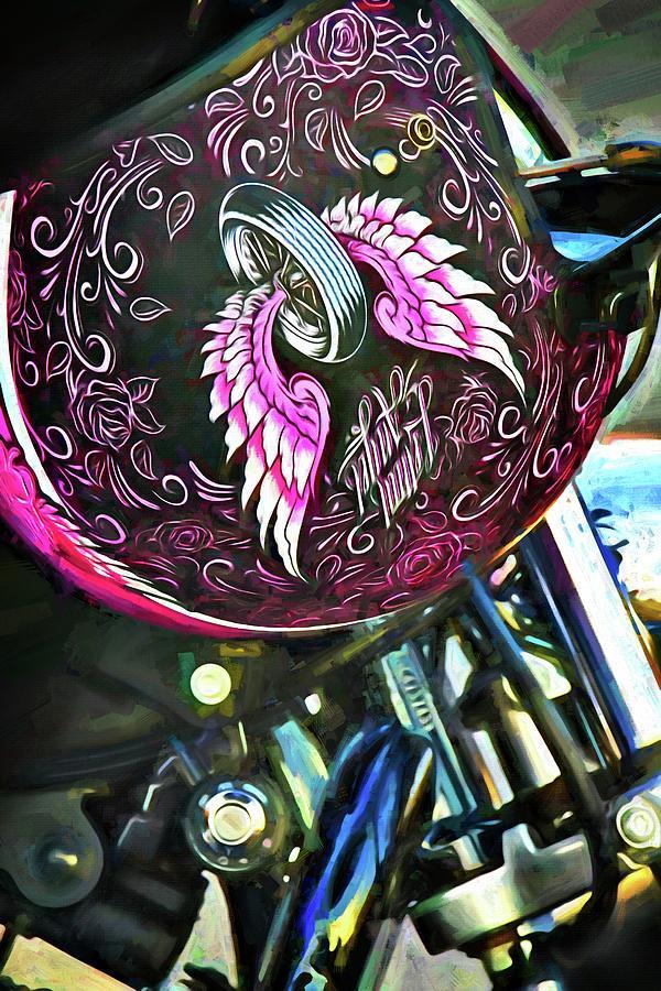 Biker Angel Wings by Alice Gipson