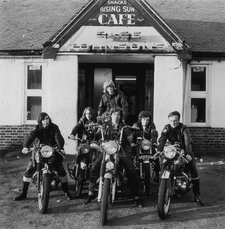 Bikers Cafe Photograph by Evening Standard
