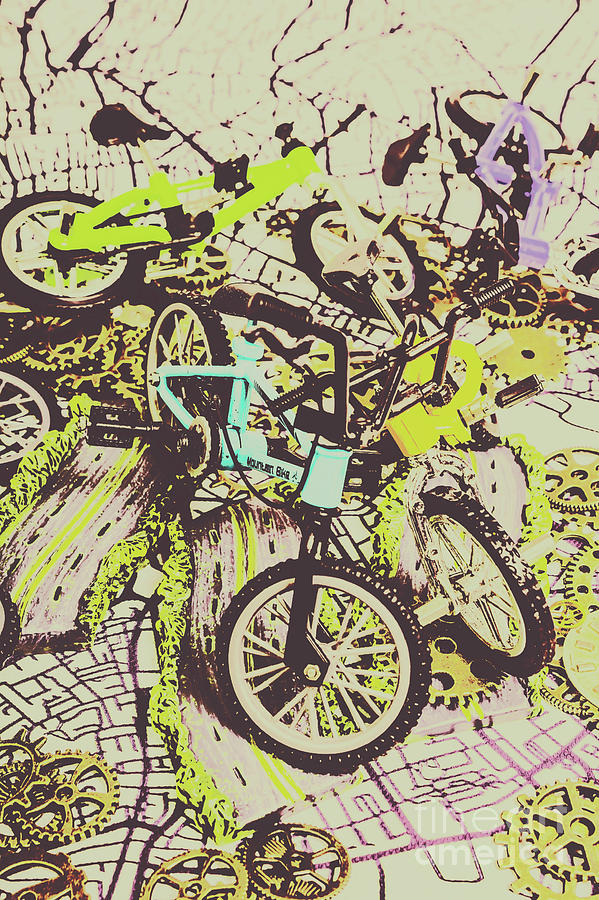 Bike Photograph - Bikes And City Routes by Jorgo Photography - Wall Art Gallery