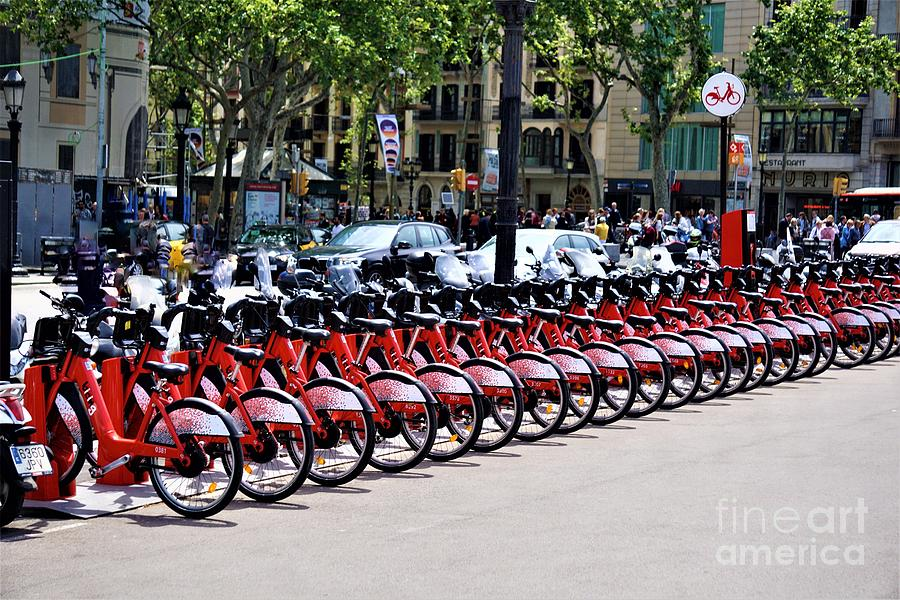 Bikes in Barcelona Photograph by Jimmy Clark