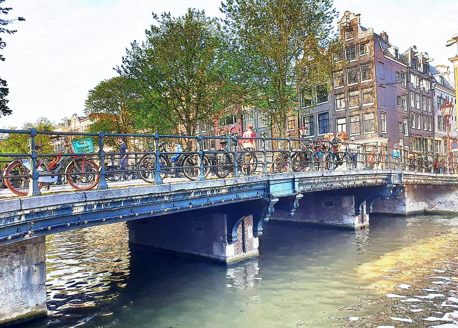 Bikes on the Bridge by Andrea Whitaker