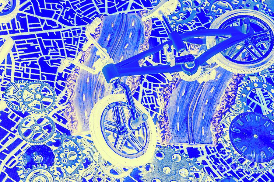 Biking Blue Photograph