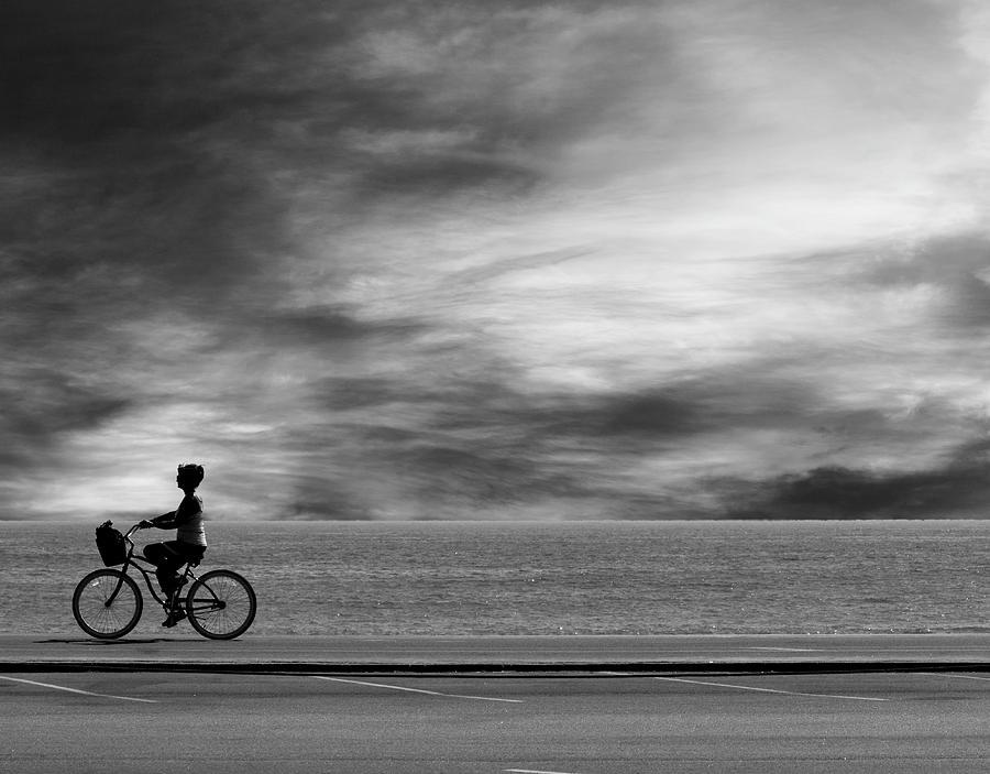 Pch Photograph - Biking on PCH by John Rodrigues