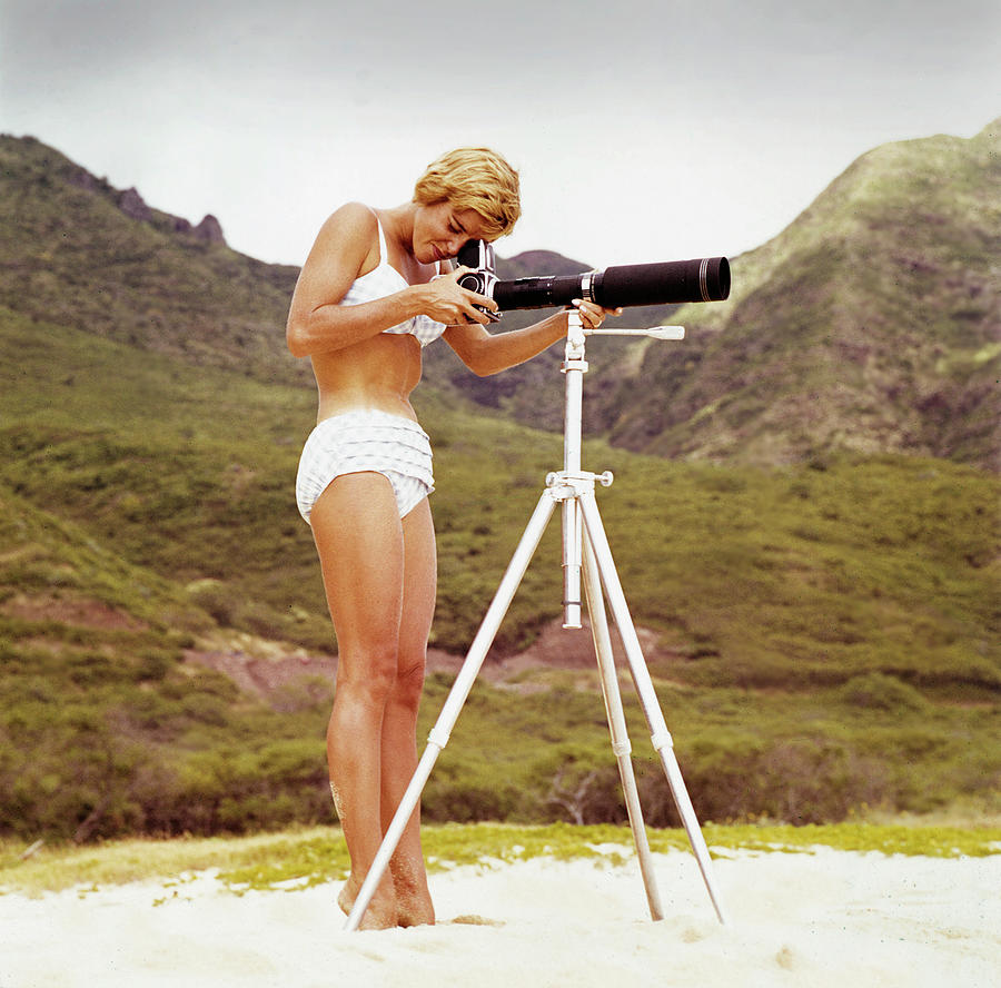 Bikini Girl And Camera Photograph by Tom Kelley Archive