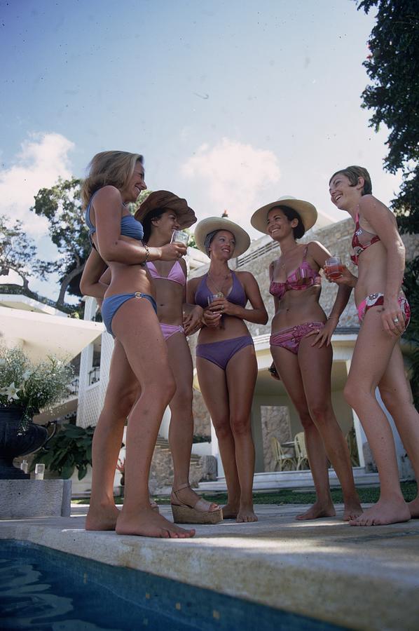 Bikini Society Photograph by Slim Aarons