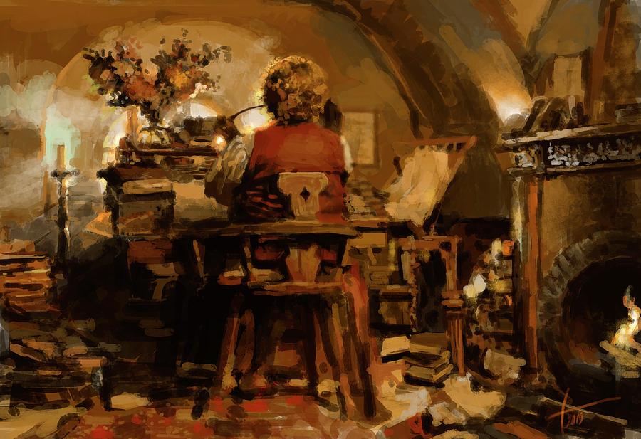 Digital Digital Art - Bilbos Home by Anna Art