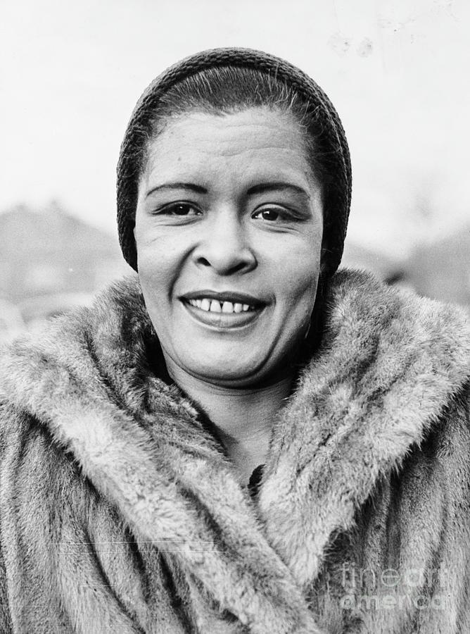 Bilie Holliday Wearing Fur Coat Photograph by Bettmann