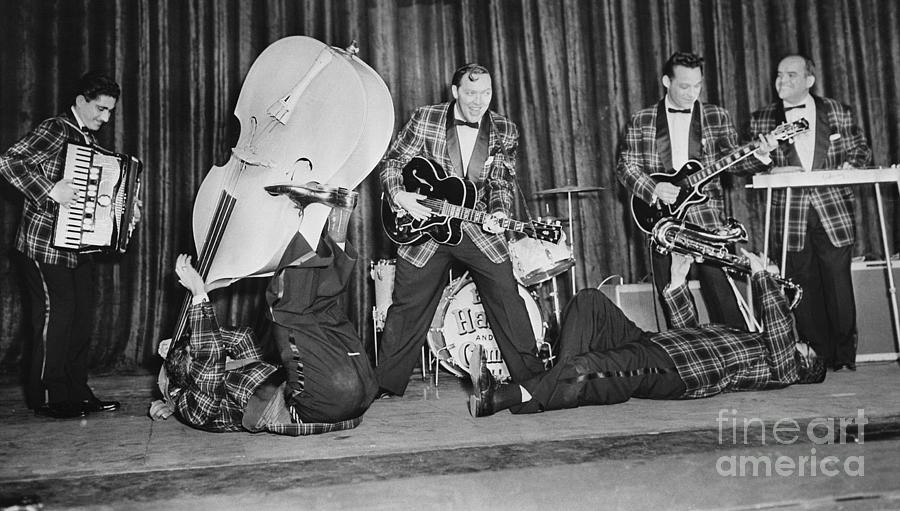 Bill Haley & His Comets At A Rehearsal Photograph by Bettmann