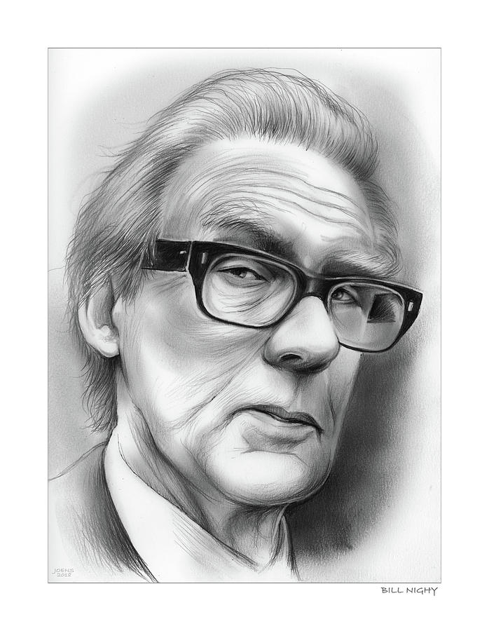 Bill Nighy Drawing - Bill Nighy by Greg Joens
