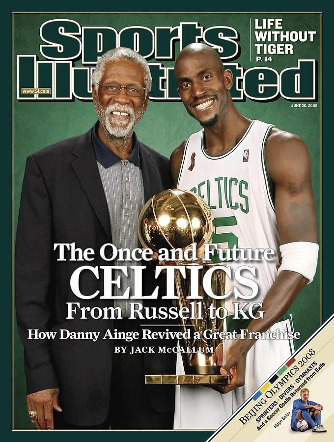 Bill Russell And Boston Celtics Kevin Garnett, 2008 Nba Sports Illustrated Cover Photograph by Sports Illustrated