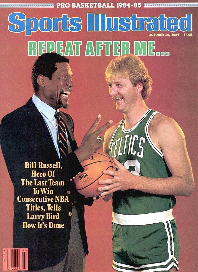Bill Russell And Boston Celtics Larry Bird Sports Illustrated Cover Photograph by Sports Illustrated
