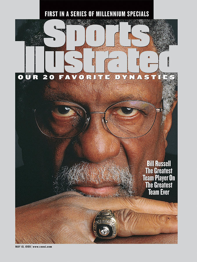 Bill Russell, Hall Of Fame Basketball Sports Illustrated Cover Photograph by Sports Illustrated
