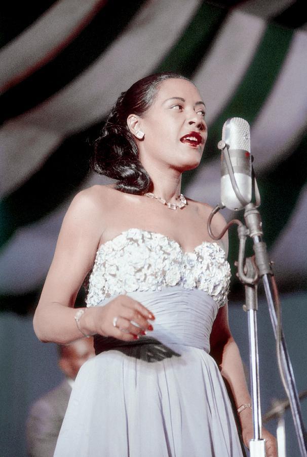 Billie Holiday At Newport Jazz Photograph by Bill Spilka