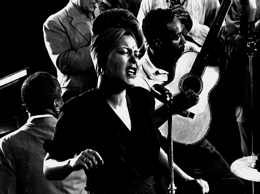 Billie Holidayjames P. Johnson Photograph by Gjon Mili