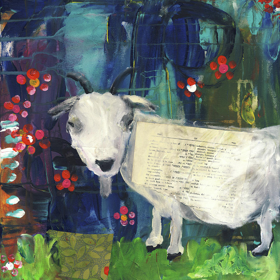 Goat Painting - Billy Goat by Susie Lubell