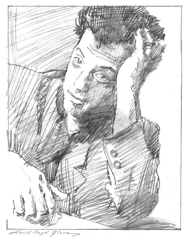 BILLY JOEL SKETCH by David Lloyd Glover