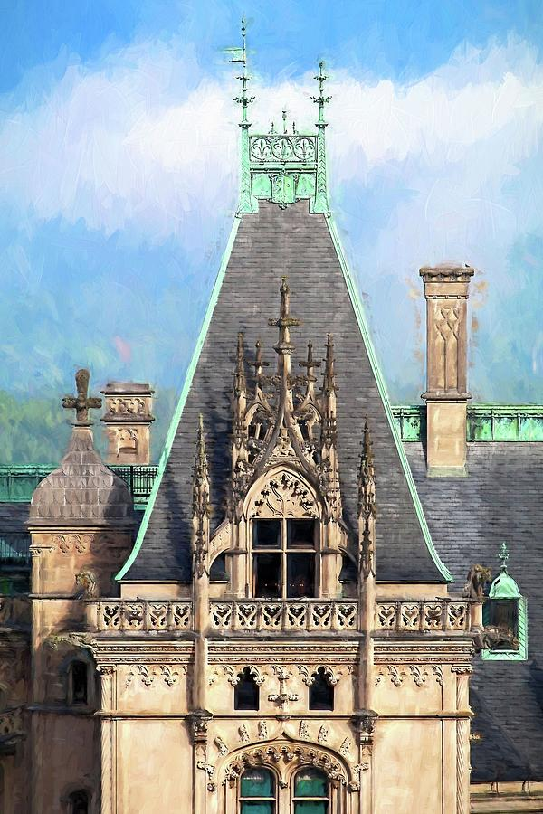 Biltmore Estate Photograph - Biltmore Architectural Detail Painting  by Carol Montoya